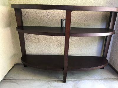 Crate and Barrel console table