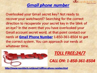 Benefit Gmail signal, acknowledge Gmail organizations 1-850-316-4893