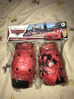 Disney cars protective gear (elbow pads knee pads and gloves)