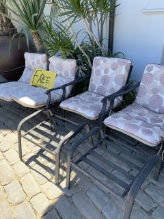 FREE patio set. Two chairs, 2 ottomans and 1 love seat