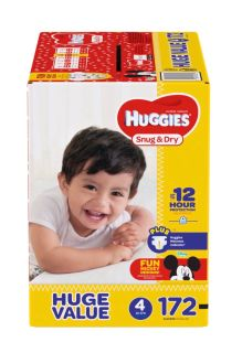 Huggies size 4 Diapers 172 pack