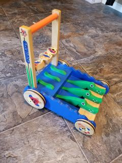 Baby wooden walker toy. Asking $5.