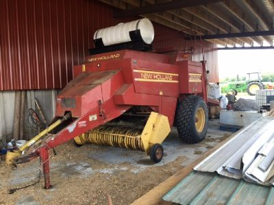 2000 New Holland Big Square Baler for sale in Topsham, Maine.