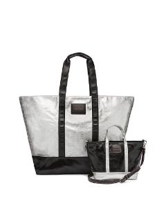 NWT - New Victoria Secret Weekender (Silver)