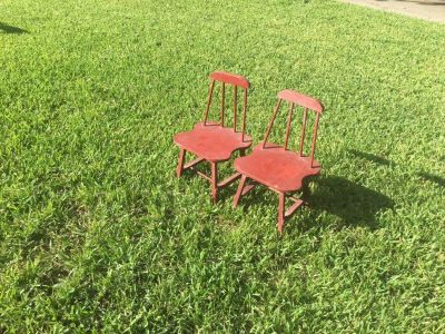 2 Small toddler sized chairs