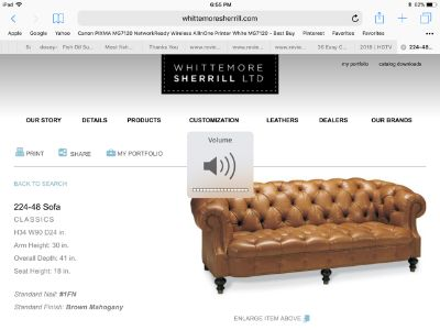Whittmore Sherrill Leather Sofa