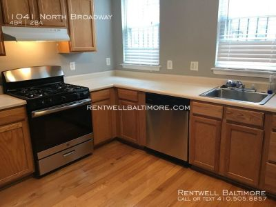 4 Bed 2 Bath | $1795 | 1041 N Broadway, Baltimore, MD 21205 | Eager Park - 2 Blocks from JHH