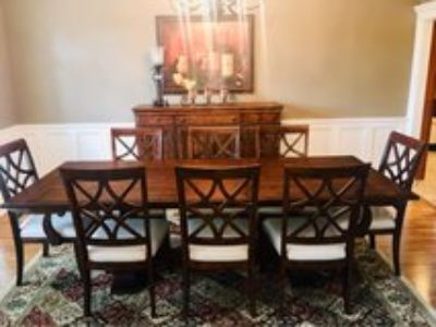 new dining room table/chairs/ buffet