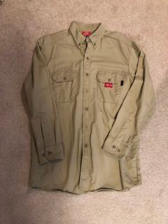 EUC Dickies Flame Resistant Button Down Work Shirt