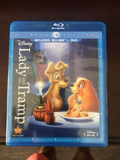 New without plastic Lady and the Tramp blue ray + dvd diamond edition