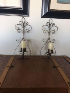 Beautiful wall candle holders
