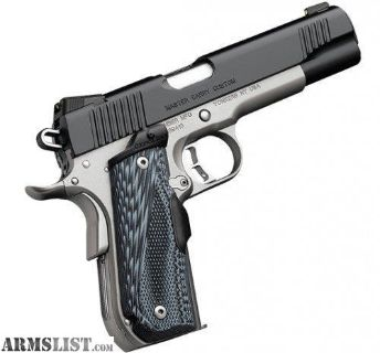 For Sale: Kimber Master Carry Custom Matte Black / Satin Silver .45 ACP 5-inch 8Rd Night Sights Crimson Trace Lasergrip. no taxes, no credit card fees, free shipping