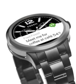 Fossil Founder 2.0 Smart Watch works with both iPhone and Android phones