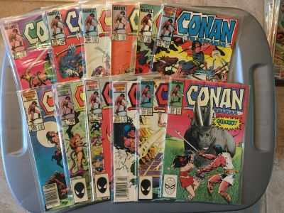 Set of 12 - Vintage Conan the Barbarian Comic Books from the 1980s