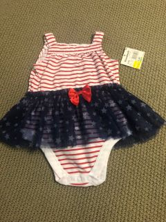 6-9 month Fourth of July onesie NWT