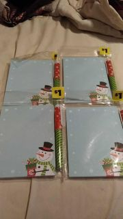 4 pen and notepad sets