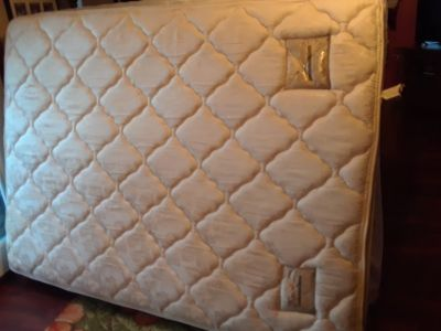 Queen size pillow top mattress and box spring