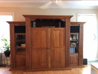 Huge custom crafted entertainment center