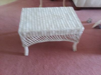 White rattan night stand