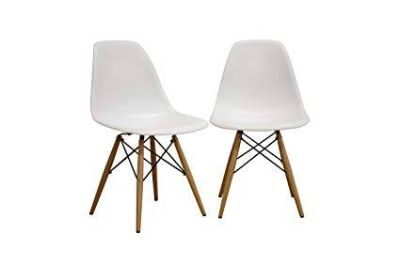 Eames-inspired Molded Plastic Dining Chairs (set)