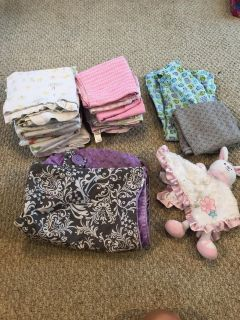 Swaddle blankets, car seat cover, nursing cover