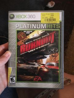 Xbox 360 Burnout revenge - ppu (near old chemstrand & 29) or PU @ the Marcus Pointe Thrift Store (on W st)