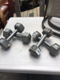 2 sets of weights 10lbs &8lbs asking $20.00