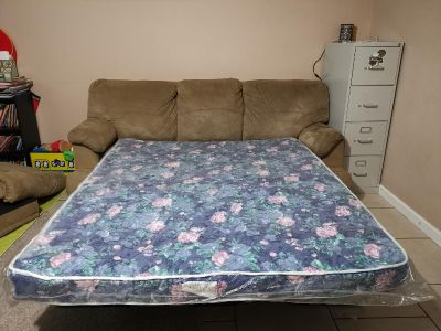 Microfiber Sofa bed. well made real wood!! Flash sale.. best offer!!