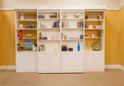 Library Murphy Bed, Delivered, Installed with Mattress