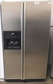 25 CU. FT. WHIRLPOOL SIDE-BY-SIDE REFRIGERATOR- STAINLESS STEEL