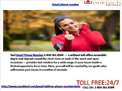 Do You fathom Gmail signal 1-850-361-8504 Sans toll?