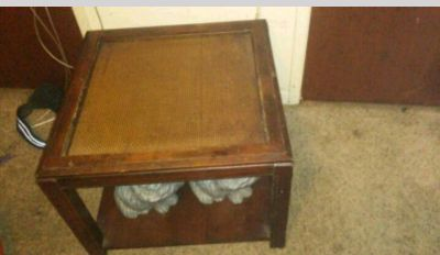 80s vintage end table