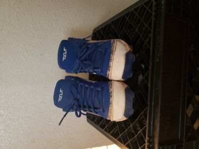Baseball Cleats blue and whie