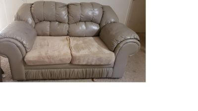 loveseat and three seater sofa for $15