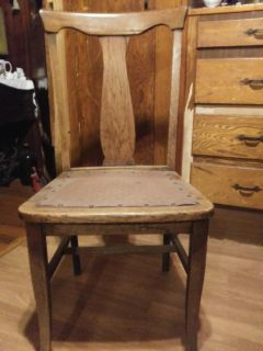 Vintage straight back chair