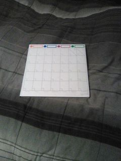 Calendar use dry and erase markers