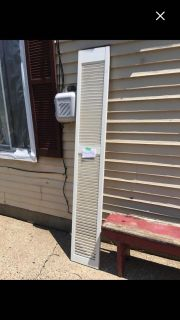 White wooden shutter door for Pinterest projects Pickup Marquette Hts only Unable to meet