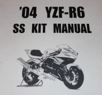 Find 2003 '04 YZF-R6 SS Kit Manual Motorcycle Racing Yamaha motorcycle in Piru, California, US, for US $29.95