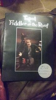 Fiddler on roof 25th anniversary broadway production book