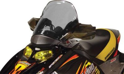 Sell Cobra Powermadd Windshield Ski-Doo REV Fairing Mount Tall Tint 14.5 10304012 motorcycle in Loudon, Tennessee, United States, for US $82.94