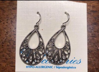 New Hypo Allergenic Earrings Silver