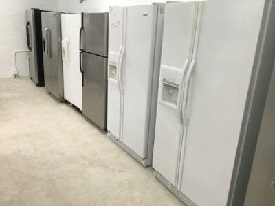 Many Side by Side and Top Bottom Refrigerators