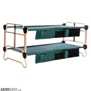 For Sale: NIB Disc-O-Bed XL Cam-O-Bunk Benchable Bunked Double Cot with Organizer