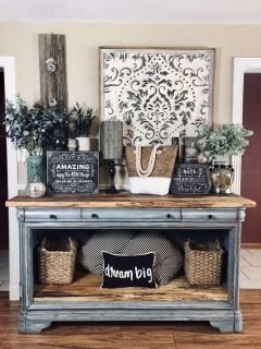 Farmhouse Rustic Oversized Buffet Server / Sideboard / Entertainment Console