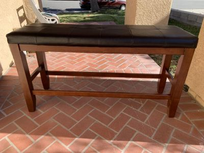 Wood Cushioned Bench