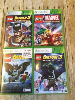 Xbox lot of LEGO games EUC one is a double feature and has pure disc motor cycle game total of 5 games $20 Xbox 360