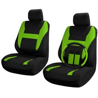 Find SUV Van Truck Seat Covers Set Bucket Seats Black / Green 9pc Wheel-Belt-HeadRest motorcycle in Van Nuys, California, United States, for US $20.89