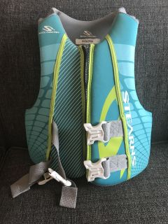 Stearnes life jacket, youth size, used little
