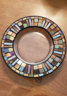 Brown / Copper Mosaic Candle Holder