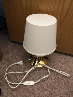 Gold and white lamp
